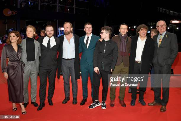 Sarah Greene Freddie Fox Moe Dunford Hugo Weaving James Frecheville Barry Keoghan Lance Daly Stephen Rea and Jim Broadbent attend the 'Black 47'...