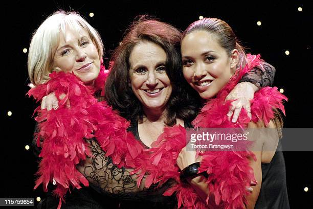 Sarah Greene Lesley Joseph and Myleene Klass during Sarah Greene Lesley Joseph and Myleene Klass Join The Vagina Monologues Photocall at Theatre...