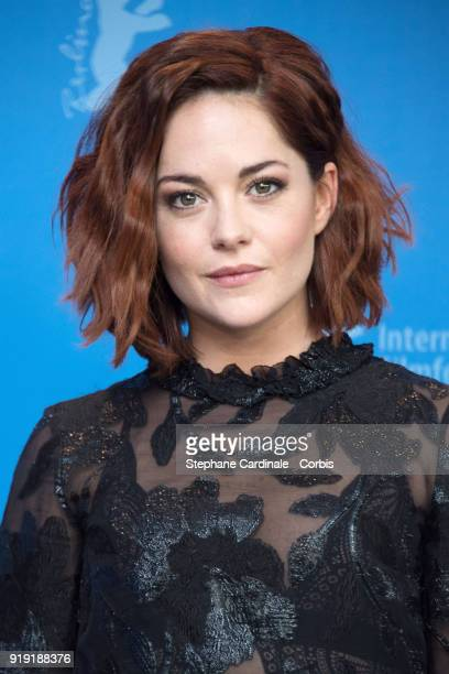 Sarah Greene poses at the 'Black 47' photo call during the 68th Berlinale International Film Festival Berlin at Grand Hyatt Hotel on February 16 2018...
