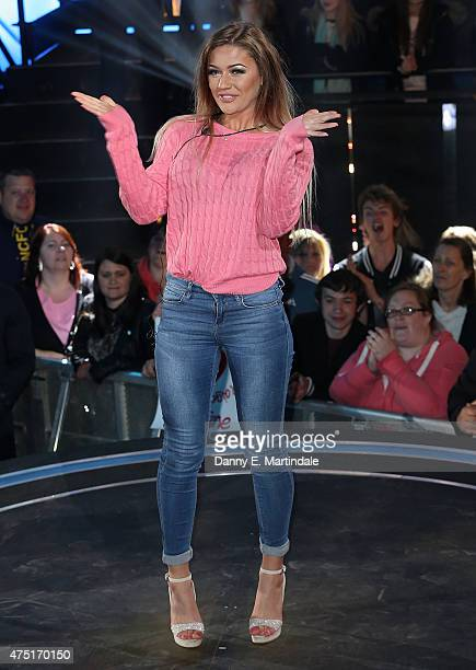 Sarah Greenwood is evicted from the Big Brother house at Elstree Studios on May 29 2015 in Borehamwood England