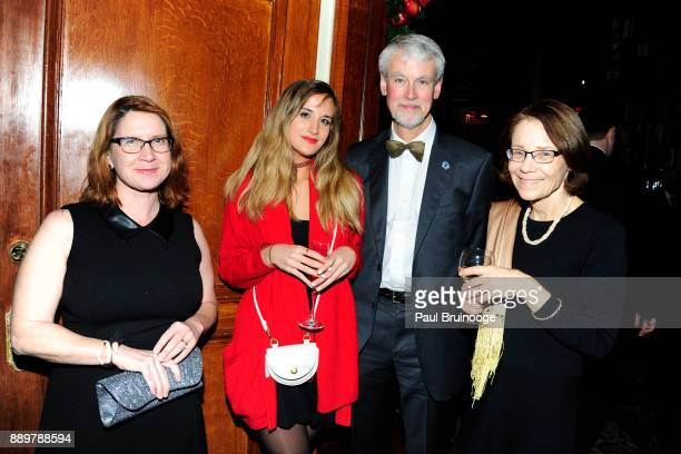 Sarah Griesbach Cosima Thomas Dr Florian Thomas and Bonita Stanton attend the Hackensack University Medical Center Foundation Holiday Party Hosted by...