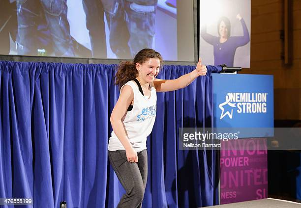 Sarah Grimaud attends One Million StrongColorectal Cancer Awareness at Grand Central Terminal on March 3 2014 in New York City