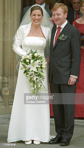 Sarah Gurling and Charles Kennedy during Liberal Democrat Leader Charles Kennedy Marries Sarah Gurling at St Stephens Entrance House of Commons...