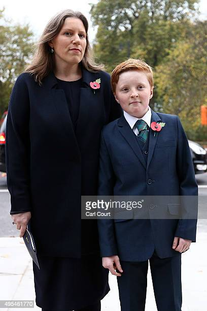 Sarah Gurling and Donald James Kennedy arrive to attend a memorial service for former Liberal Democrat leader Charles Kennedy on November 3 2015 in...