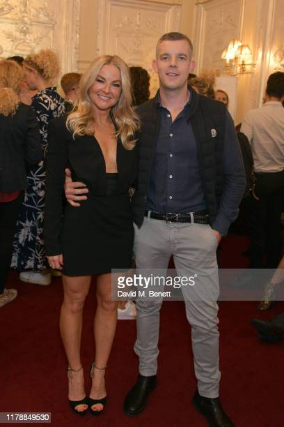 Sarah Hadland and Russell Tovey attend the press night after party for Noises Off at The Garrick Theatre on October 03 2019 in London England