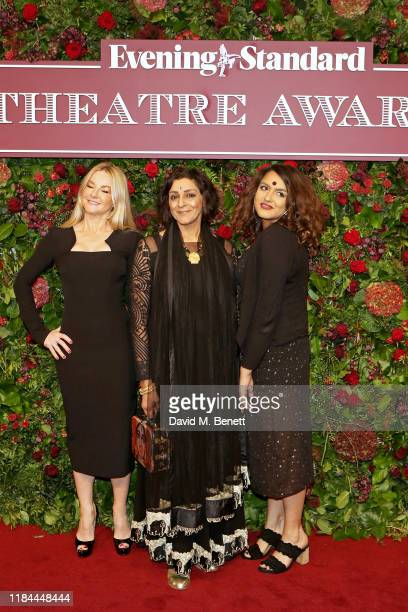 Sarah Hadland Meera Syal and guest attend 65th Evening Standard theatre Awards in association with Michael Kors at the London Coliseum on November 24...