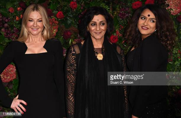 Sarah Hadland Meera Syal and guest attend the 65th Evening Standard Theatre Awards at London Coliseum on November 24 2019 in London England