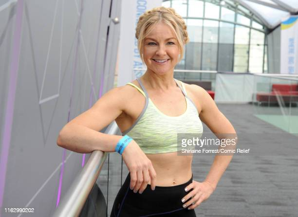 Sarah Hadland poses at the first ever 'All Star Netball for Sport Relief' event at MS Bank Arena on July 19 2019 in Liverpool England