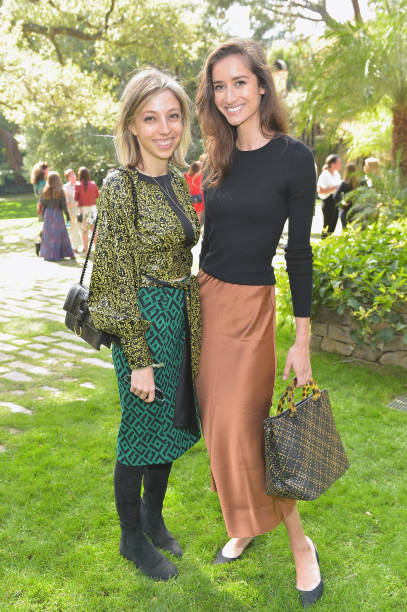 Sarah Halfin and model Rekha Luther attend the DVF Oscar Luncheon Honoring The Female Nominees Of The 90th Academy Awards on February 28 2018 in...