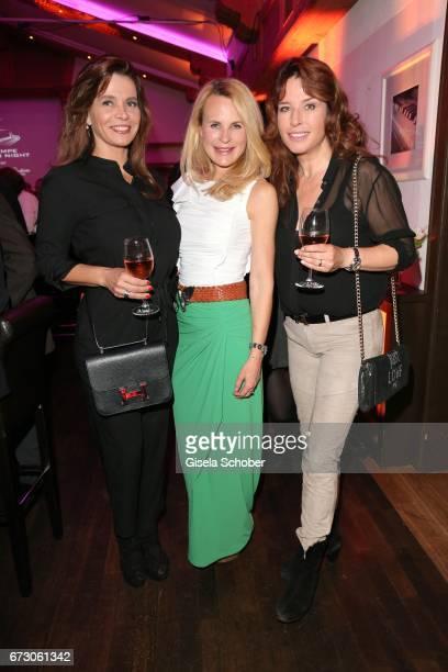 Sarah Hallhuber, Fashion designer Sonja Kiefer and Cosima von Borsody during the piano night hosted by Wempe and Glashuette Original at Gruenwalder...