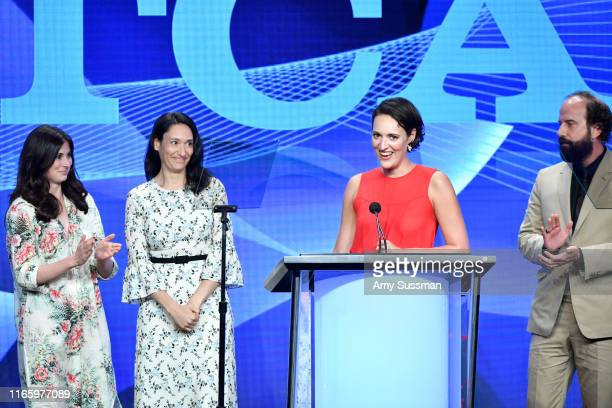 Sarah Hammond Sian Clifford Phoebe WallerBridge and Brett Gelman accept the Outstanding Achievement in Comedy Award for Fleabag onstage during the...