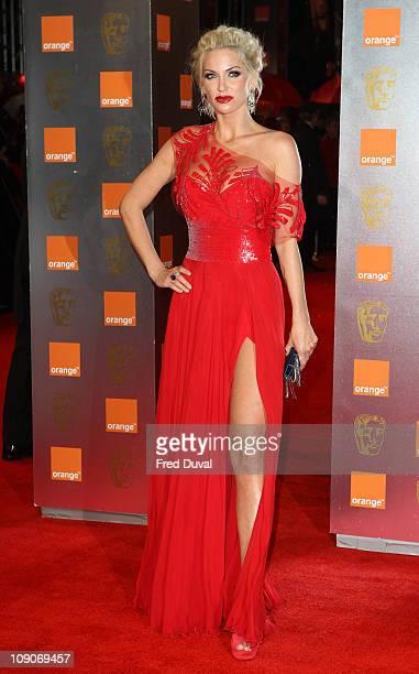 Sarah Harding arrives at The 2011 Orange British Academy Film Awards at The Royal Opera House on February 13 2011 in London England
