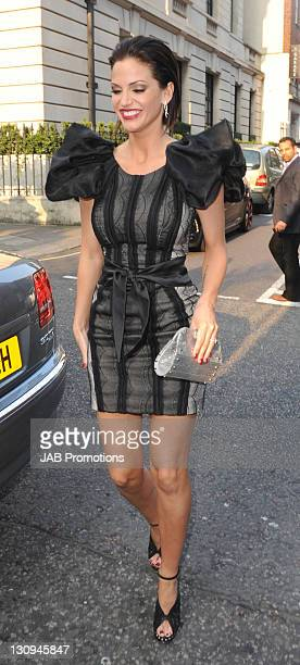Sarah Harding arrives at the Jameson Empire Awards at The Grosvenor House Hotel on March 27 2011 in London England