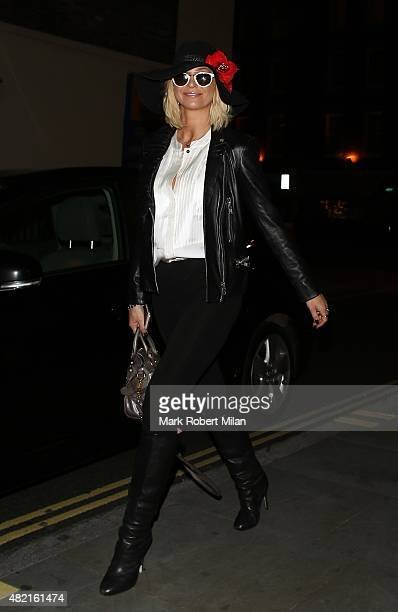 Sarah Harding at the Chiltern Firehouse on July 27 2015 in London England