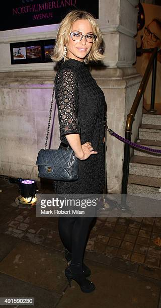 Sarah Harding attending the Specsavers 'Spectacle Wearer of the Year' party on October 6 2015 in London England