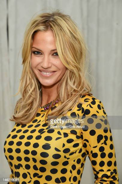 Sarah Harding attends a party to celebrate Kimberley Walsh's last appearance as Princess Fiona in the musical 'Shrek' at Vanilla Nightclub on May 21...
