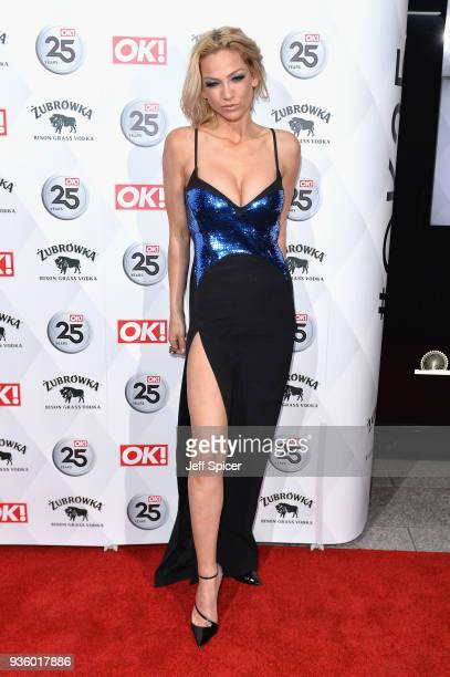 Sarah Harding attends OK Magazine's 25th Anniversary Party at The View from The Shard on March 21 2018 in London England