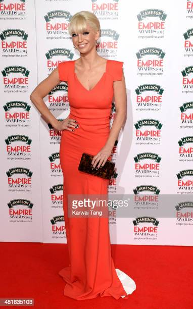 Sarah Harding attends the Jameson Empire Film Awards at Grosvenor House on March 30 2014 in London England
