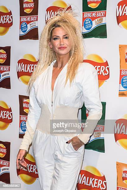 Sarah Harding attends the launch of Walkers Bring It Back Campaign at Vinopolis on September 3 2015 in London England