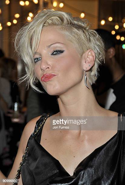 Sarah Harding attends the Mulberry party during London Fashion Week Spring/summer 2010 at Claridge's Hotel on September 20 2009 in London England