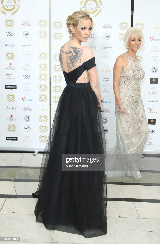 Sarah Harding attends the National Film Awards UK at Portchester House on March 28, 2018 in London, England.