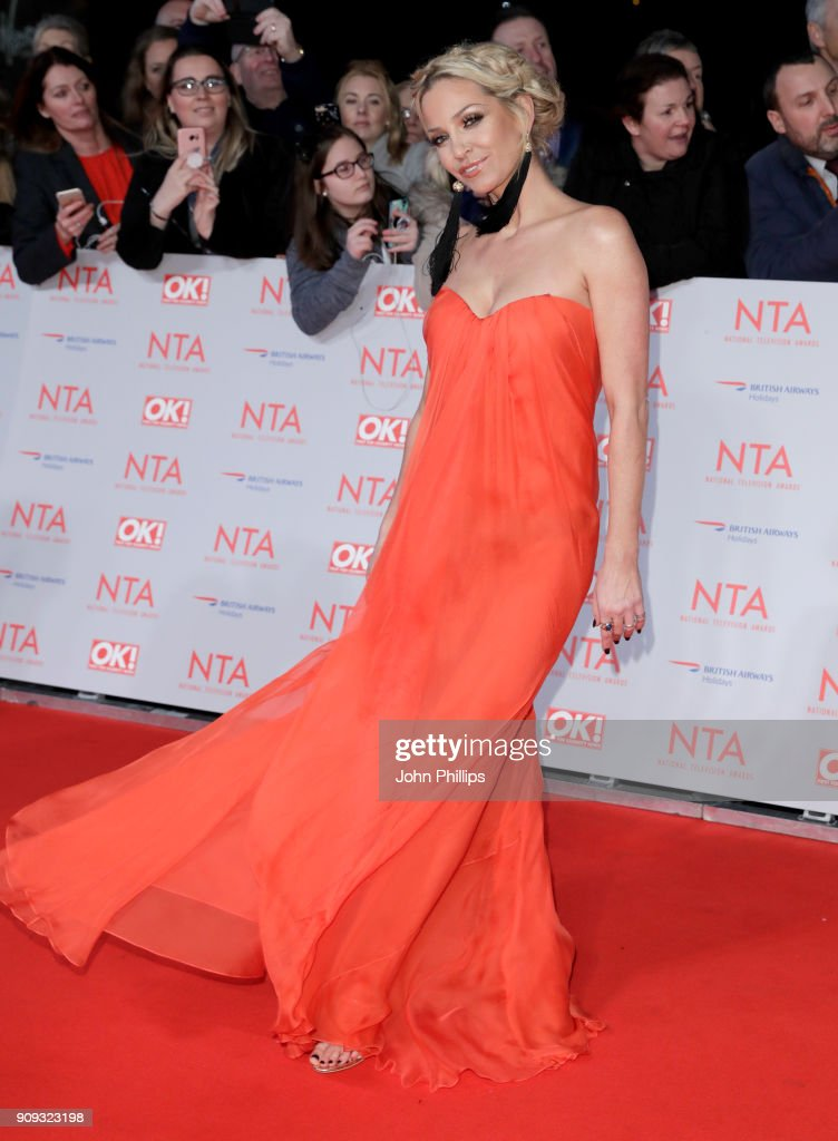 Sarah Harding attends the National Television Awards 2018 at the O2 Arena on January 23, 2018 in London, England.
