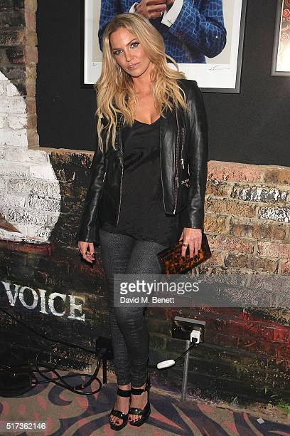 Sarah Harding attends the Notion Magazine 72nd issue launch party at Tape London on March 24 2016 in London England
