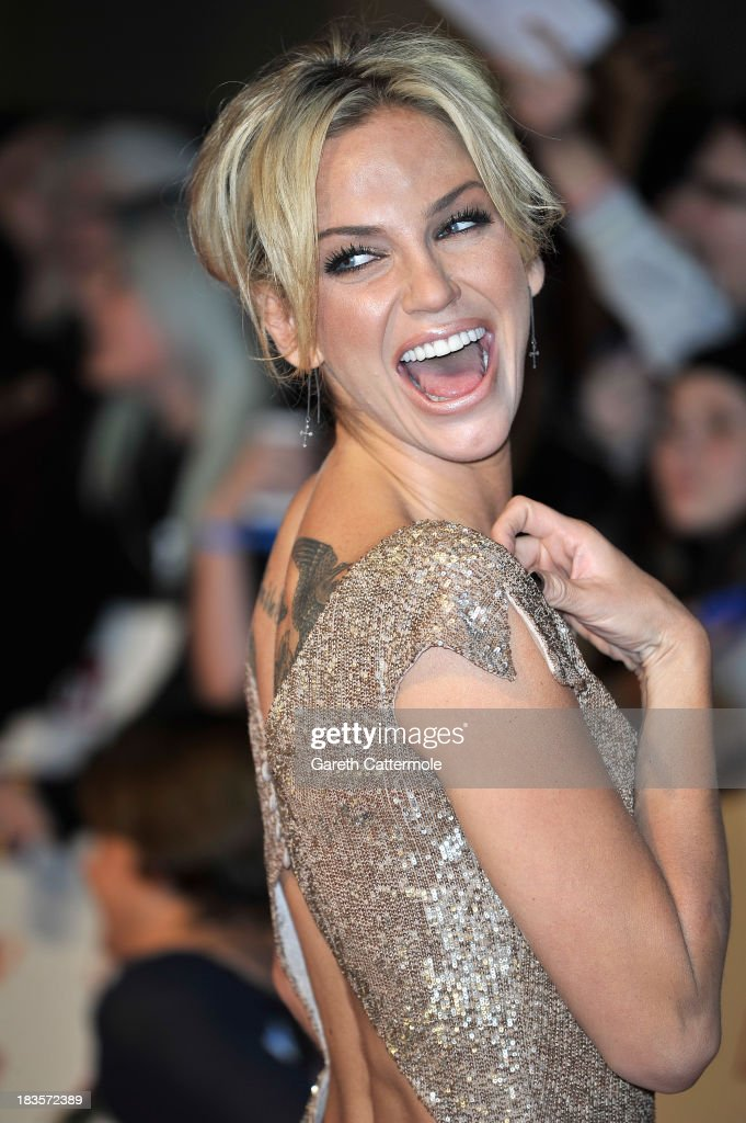 Sarah Harding attends the Pride of Britain awards at Grosvenor House on October 7, 2013 in London, England.