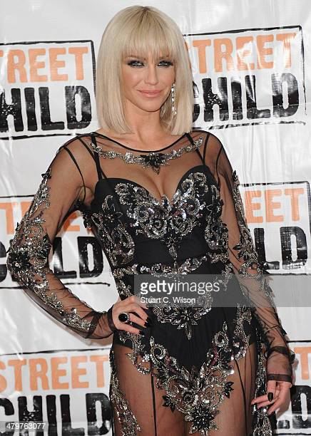 Sarah Harding attends the Street Child 5th anniversary party at Kensington Palace on March 20 2014 in London England