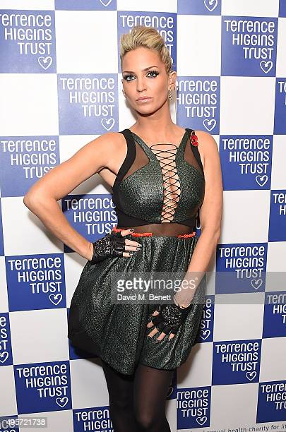 Sarah Harding attends The Supper Club after party in aid of the Terrence Higgins Trust at The Drury Club on November 4 2015 in London England