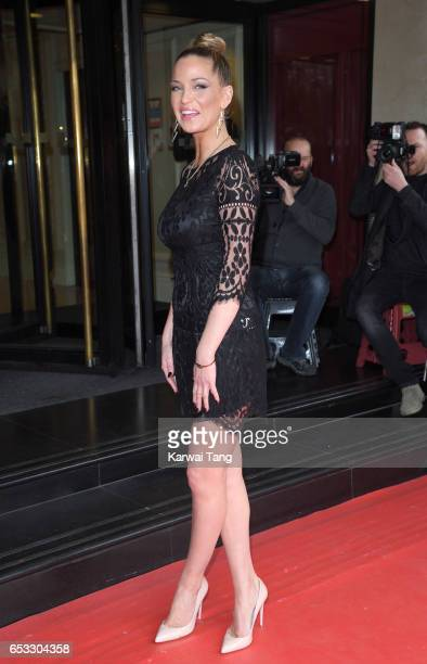 Sarah Harding attends the TRIC Awards 2017 at the Grosvenor House on March 14 2017 in London United Kingdom