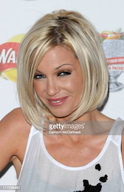 Sarah Harding attends the Walkers Campaign Launch on March 29 2010 in London England