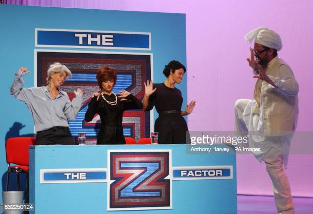 Sarah Harding Cheryl Tweedy and Kimberley Walsh from Girls Aloud join Alan Carr to search for The Z Factor during a sketch for the final episode of...