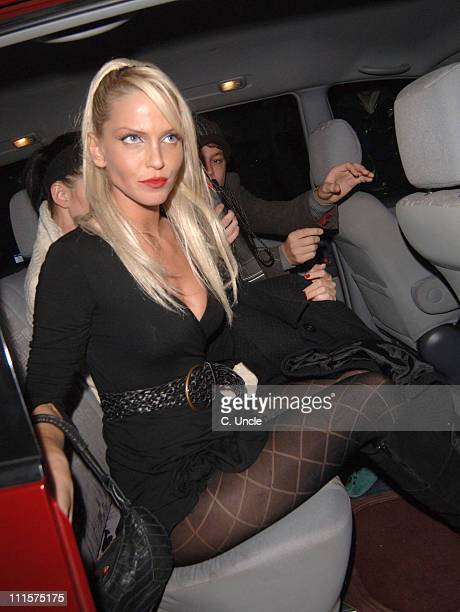 Sarah Harding during Celebrity Sightings at the Kabaret Club November 22 2005 at Kabaret Club in London Great Britain