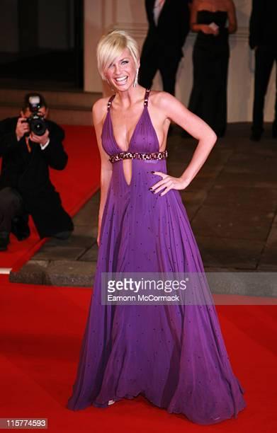 Sarah Harding during The Orange British Academy Film Awards 2007 Red Carpet Arrivals at Royal Opera House in London United Kingdom