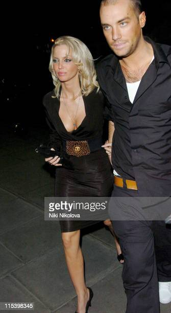 Sarah Harding from Girls Aloud and Calum Best during Calum Best and Sarah Harding Sighting at Kilo Kitchen Bar in London December 8 2005 in London...