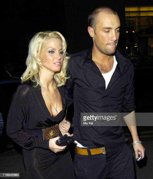 Sarah Harding from Girls Aloud and Calum Best during Calum Best and Sarah Harding Sighting at the Sanderson Hotel in London December 8 2005 in London