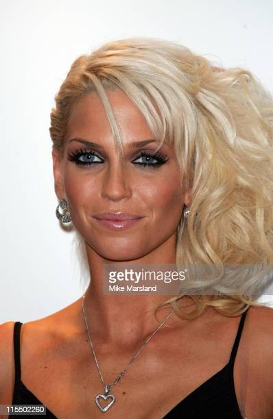 Sarah Harding from Girls Aloud during 2004 Disney Channel Kids Awards Press Room at Royal Albert Hall in London Great Britain