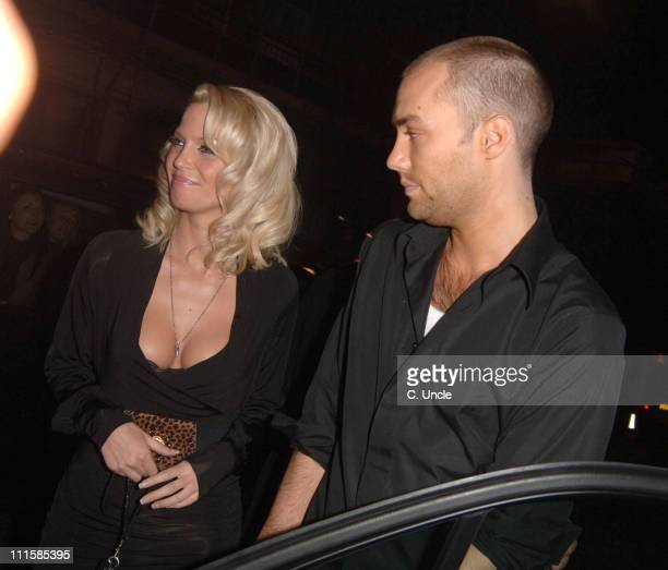 Sarah Harding from Girls Aloud with Calum Best during Calum Best and Sarah Harding Sighting at Nobu in London December 8 2005 in London Great Britain