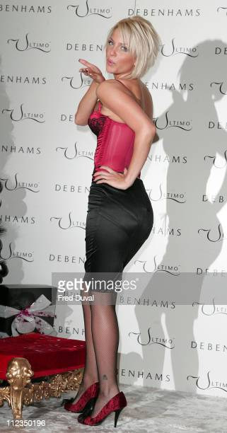 Sarah Harding in her first official appearance as the Face Body of Ultimo