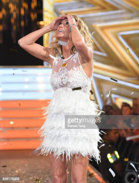 Sarah Harding is crowned the winner of Celebrity Big Brother 2017 at Elstree Studios on August 25 2017 in Borehamwood England