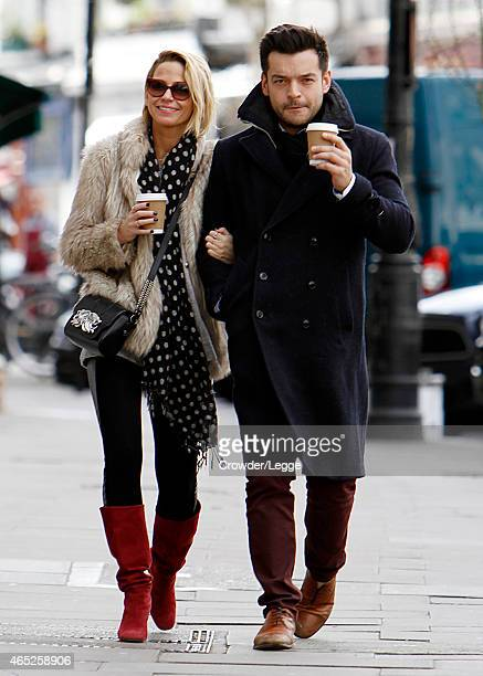 Sarah Harding is pictured out for the first time with her new boyfriend on February 28 2015 in London England