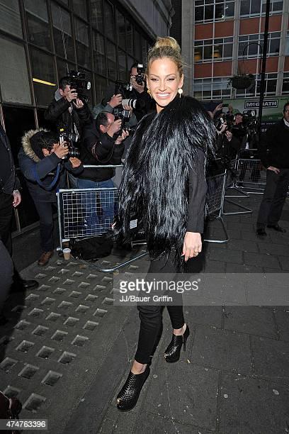 Sarah Harding is seen at the BBC Radio 1 Studios on November 12 2012 in London United Kingdom