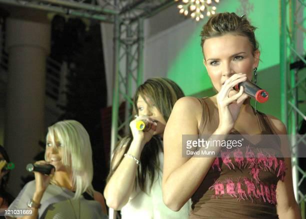 Sarah Harding Nicola Roberts and Nadine Coyle of Girls Aloud