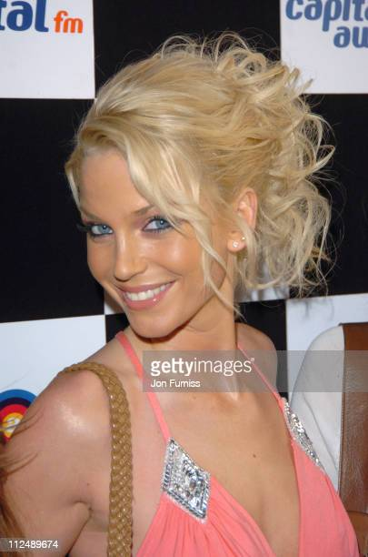 Sarah Harding of Girls Aloud during The 2005 958 Capital FM Awards Inside Arrivals at Royal Lancaster Hotel in London Great Britain