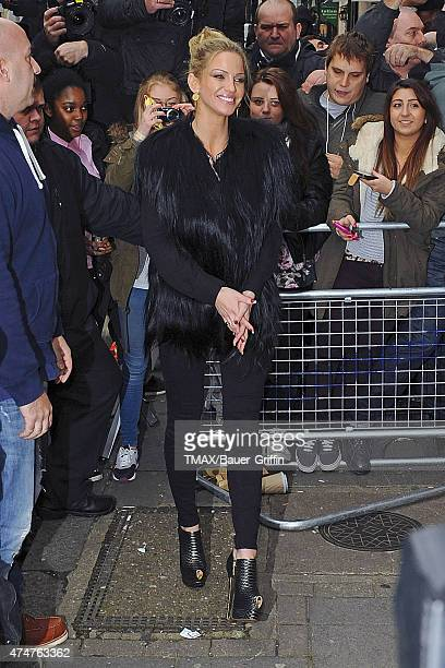 Sarah Harding of Girls Aloud is seen arriving at the BBC Radio 1 studios on November 12 2012 in London United Kingdom