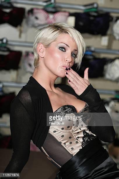 Sarah Harding opened 2nd Ultimo shop in Debenhams on November 12 2007 in London England