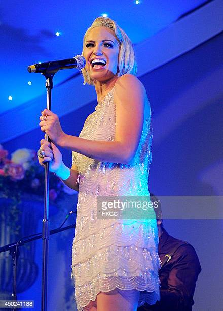 Sarah Harding performs a charity gig in support of UK charity Street Child at The Tower of London on June 7 2014 in London England Street Child's aim...