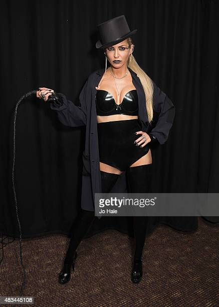 Sarah Harding poses backstage at GAY Heaven on August 8 2015 in London England