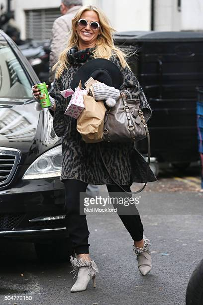 Sarah Harding seen at a studio in Soho on January 13 2016 in London England